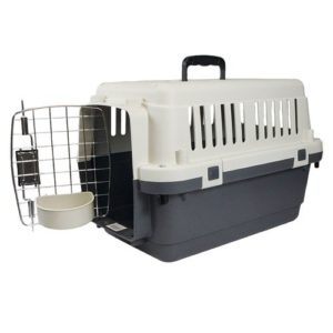 Caisse Transport pour chat certifiée IATA S 61 X 40 X 40,5 cm Gris-Noir