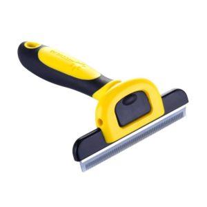 Étrille jaune : brosse à poils de chat