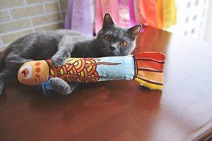 Jouet pour chat poisson à l'herbe à chat
