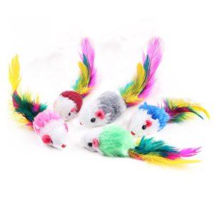 Jouets pour chat : souris à plume