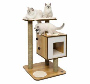 Arbre à chat moyen Vesper en bois