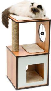 Petit arbre à chat en bois Vesper